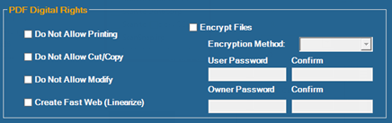 DoxaScan Composer setting for Security and Digital Rights Management (DMR)