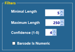 Barcode Filters