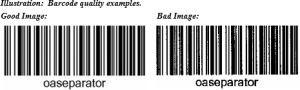 Barcode quality examples