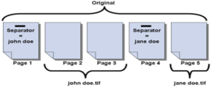 Using the Remove Separator Pages option and renaming the file based on Barcode1