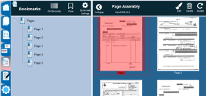 Before processing, the Bookmarks tab shows all pages have a bookmark in the left panel.