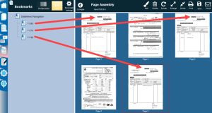 Three bookmarks have been identified in our example.