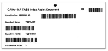 Sample barcode used in the chart