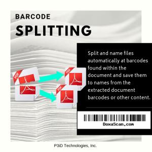 DoxaScan Composer Barcode File Splitting