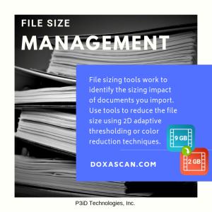 DoxaScan Composer - File Size Management
